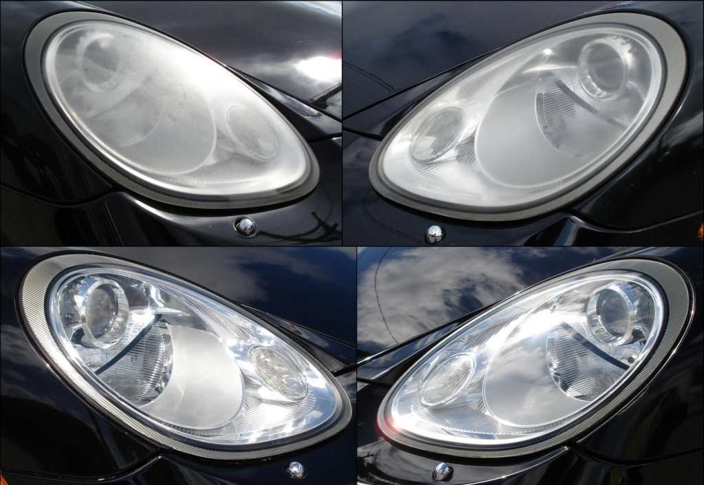 Porsche Headlight Restoration