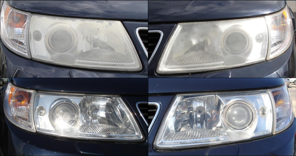 Saab Headlight Restoration