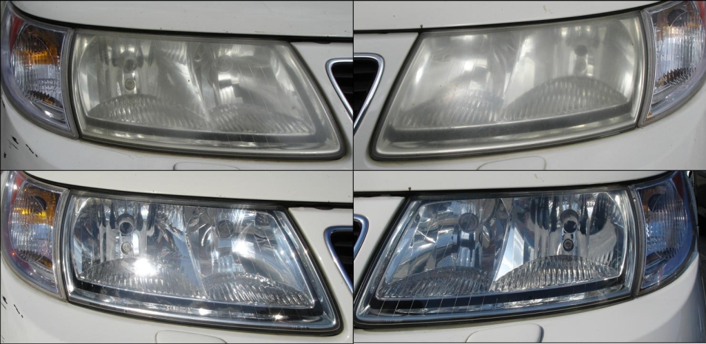 Saab 93 Headlight Restoration