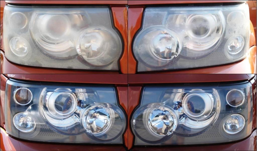 Landrover Headlight Restoration